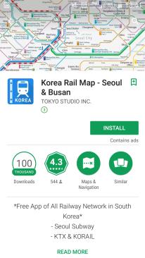 Korea Rail Map
